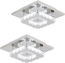 Axhup - 2x K9 Crystal Chandelier Clear Glass