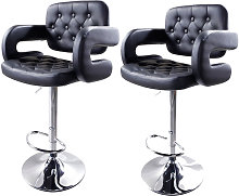 Axhup - Bar Stools Set of 2 with U-shape Arms,