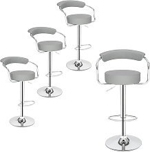 Axhup - Bar Stools Set of 4 with Arms, Adjustable