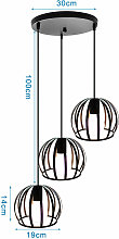 Axhup - Ceiling Light with Cage, Creative Round