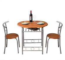 Axhup - Dining Table & Chairs Set of 2, Modern PVC