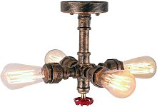 Axhup - Industrial Ceiling Light Rustic Ceiling