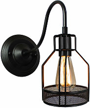 Axhup - Industrial Wall Light Vintage Cage Wall