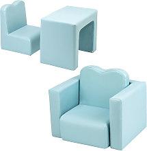 Axhup - Kids Single Sofa & Table Set, Mini