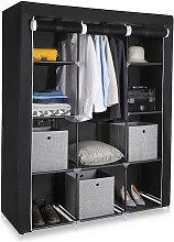 Axhup - Portable Wardrobe, 4 Tier 10 Compartment