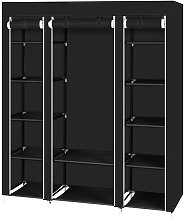 Axhup - Portable Wardrobe, 5 Tier 12 Compartment