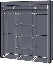 Axhup - Portable Wardrobe, 5 Tier 9 Compartment