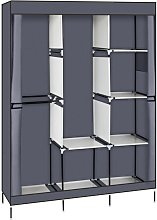 Axhup - Portable Wardrobe with 3 clothes rails, 4