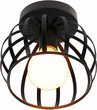 Axhup - Retro Industrial Ceiling Lamp with Cage