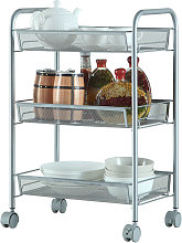 Axhup - Storage Trolley with Hooks, 3 Tier Slide