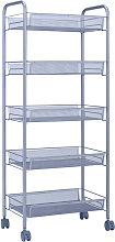 Axhup - Storage Trolley with Hooks, 5 Tier Slide