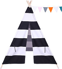 Axhup - Teepee Tent for Kids with Coloured Flag
