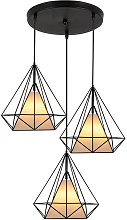 Axhup - Vintage Retro Ceiling Lamp 3 Lights