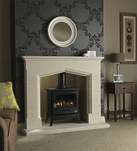 Axon Coniston Limestone Fireplace With Reeded