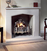 Axon Copeland Limestone Fireplace With Reeded
