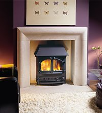 Axon Delection Limestone Fireplace With Limestone