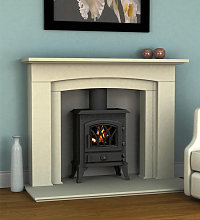 Axon Montana Limestone Fireplace With Reeded