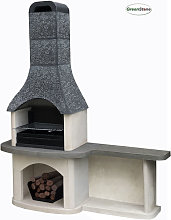 Axon Sorrento Masonry Barbecue with Side Table