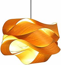 AXWT E27 Natural Wooden Ceiling Pendant Lights