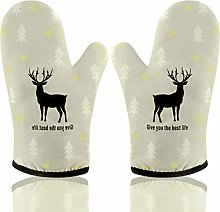 AYADA Oven Gloves for Kitchen, Gauntlet Oven Mitts