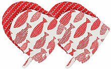 AYADA Silicone Short Oven Gloves for Kitchen,
