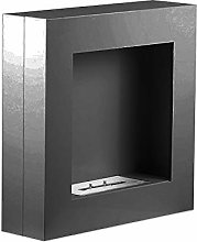 Aydan Black Wall Mounted Ethanol Fireplace with a