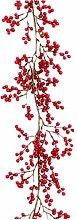 AYDQC SDHUA Red Berry Garland Christmas Artificial