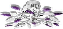 AYNEFY 230V ceiling purple crystal chandelier,