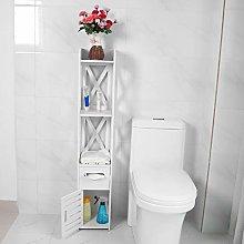AYNEFY Bathroom Tall Cabinet, White Waterproof