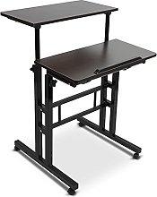 AYNEFY Desk Height Adjustable Standing Desk Laptop