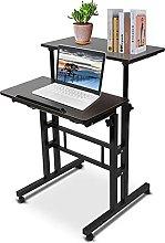 AYNEFY Laptop Desk, 60 cm Adjustable Height Stand