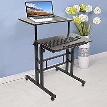 AYNEFY Mobile Standing Desk, Adjustable Rolling