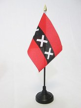 AZ FLAG Amsterdam Table Flag 4'' x