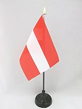 AZ FLAG Austria Table Flag 4'' x