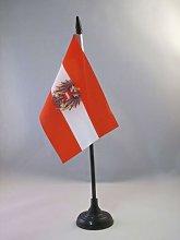 AZ FLAG Austria with eagle Table Flag 4''