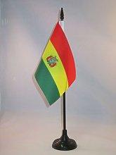 AZ FLAG Bolivia Table Flag 4'' x
