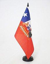AZ FLAG Chile with arms Table Flag 5'' x