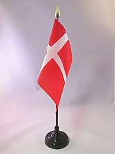 AZ FLAG Denmark Table Flag 4'' x
