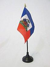 AZ FLAG Haiti Table Flag 4'' x 6''