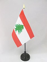 AZ FLAG Lebanon Table Flag 4'' x