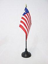 AZ FLAG Liberia Table Flag 4'' x