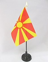 AZ FLAG Macedonia Table Flag 4'' x