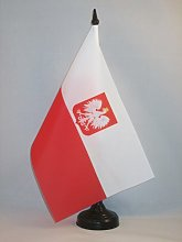 AZ FLAG Poland with eagle Table Flag 5'' x
