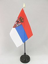 AZ FLAG Serbia Table Flag 4'' x