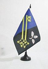 AZ FLAG Surrey county Table Flag 5'' x