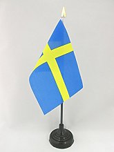 AZ FLAG Sweden Table Flag 4'' x