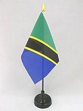 AZ FLAG Tanzania Table Flag 4'' x