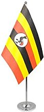 AZ FLAG Uganda prestige Table Flag 6'' x