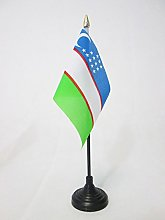 AZ FLAG Uzbekistan Table Flag 4'' x