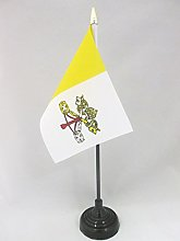 AZ FLAG Vatican City Table Flag 4'' x
